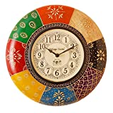 Vintage Clock Handicraft Radiant Pine Wood Wall Clock (34 cm x 10.5 cm x 34 cm) …