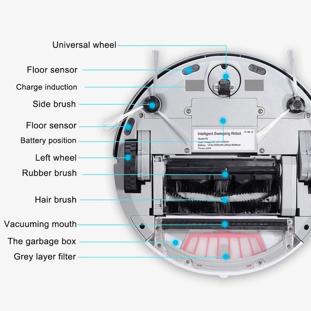 DGEG Robots Aspirateurs, Lavage Automatique Robot De Nettoyage WiFi Nettoyeur Planifié D\'itinéraire sans Fil Nettoyeur À La Maison Robot (Couleur : Or) Pink