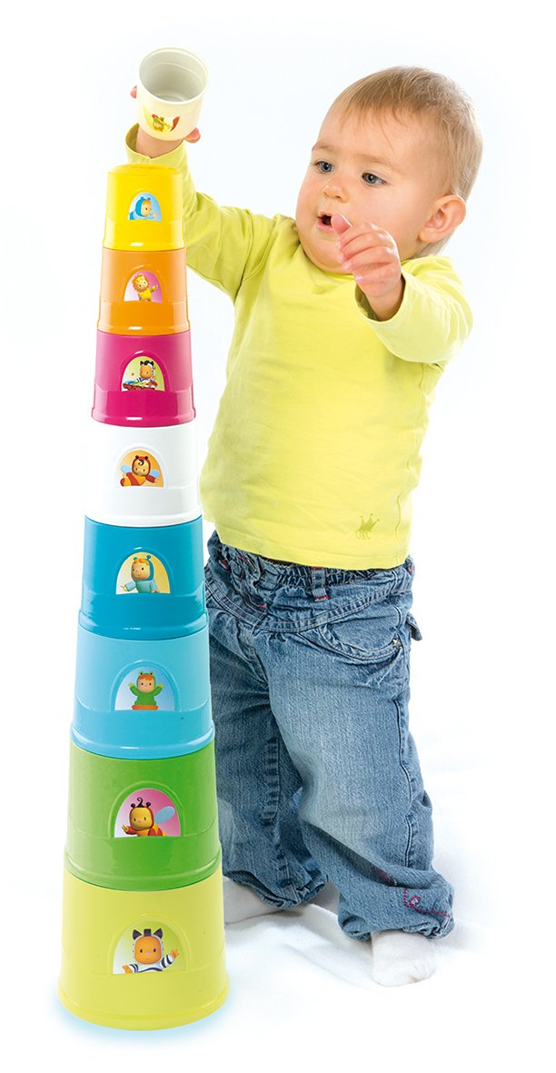 Coloured Smoby Cotoons-Super Magic Tower Building Games 110425WEB