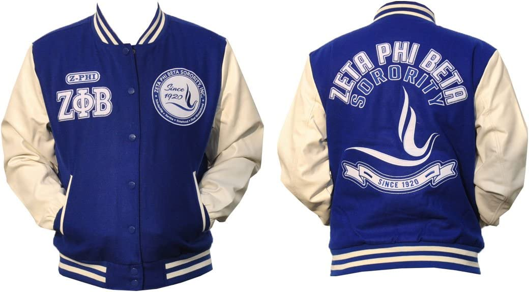 Zeta Phi Beta Sorority Inc Fraternity HBCU Black College Jacket