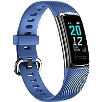 TOOBUR Pulsera de Actividad Inteligente, IP68 Impermeable Reloj Inteligente con Pulsómetro Podómetro Calorias Monitor de Sueño, Pulsera Actividad Smartwatch para Hombre Mujer Niños