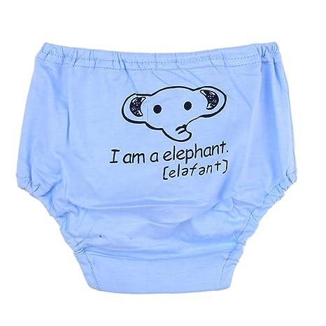 domybest pantalones de entrenamiento para bebé algodón dibujos animados ropa interior Bebé Infantil Reutilizables pañales pañal