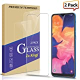 Zeking[2-Pack]Samsung Galaxy A10 Tempered Glass Screen Protector, [Not Fit for Galaxy A10E] [3D Touch][Case Friendly] Bubble
