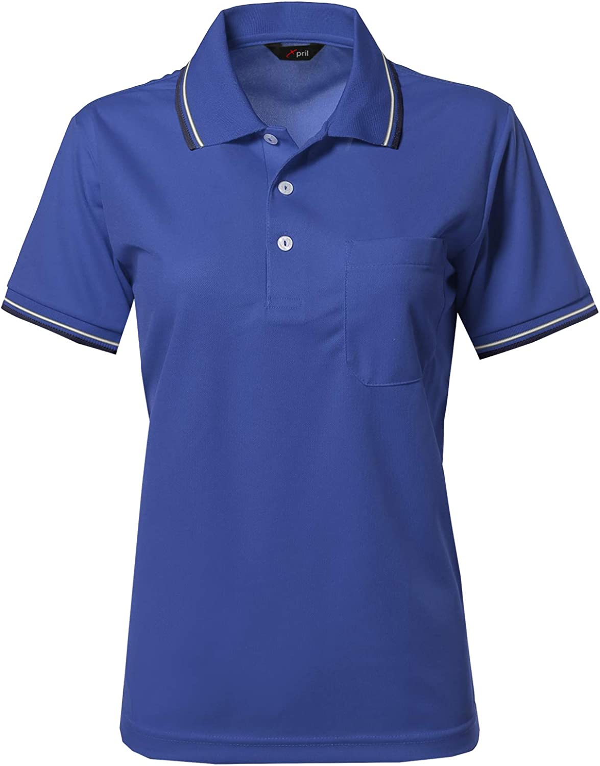 Women's Solid Cool Dri-Fit Active Short Sleeve Collar Polo T-Shirt Tee