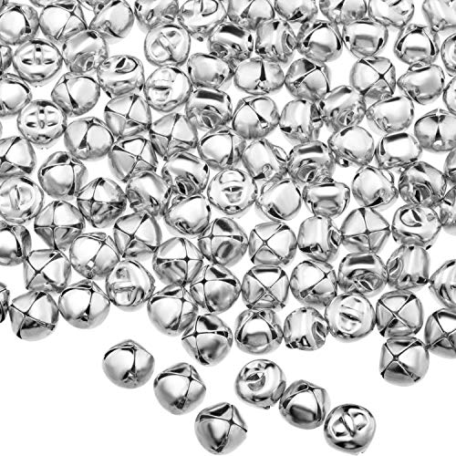 Accent Design Bell Jingle - Envysun 1/2 Inch Craft Bells, Silver Jingle Bells Set for Kids, Craft and Favor Decorationg-300 Pieces