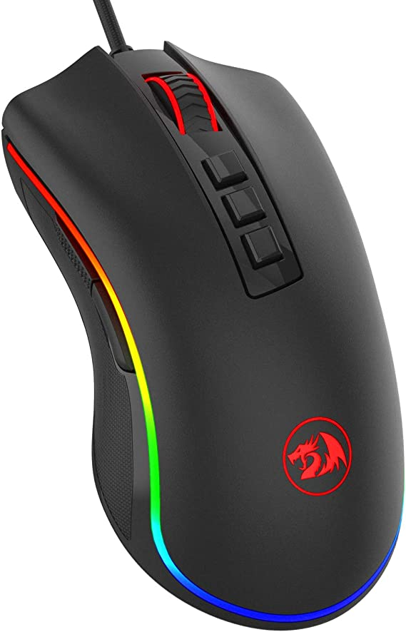 Redragon M711 Cobra Gaming Mouse with 16.8 Million RGB Color Backlit