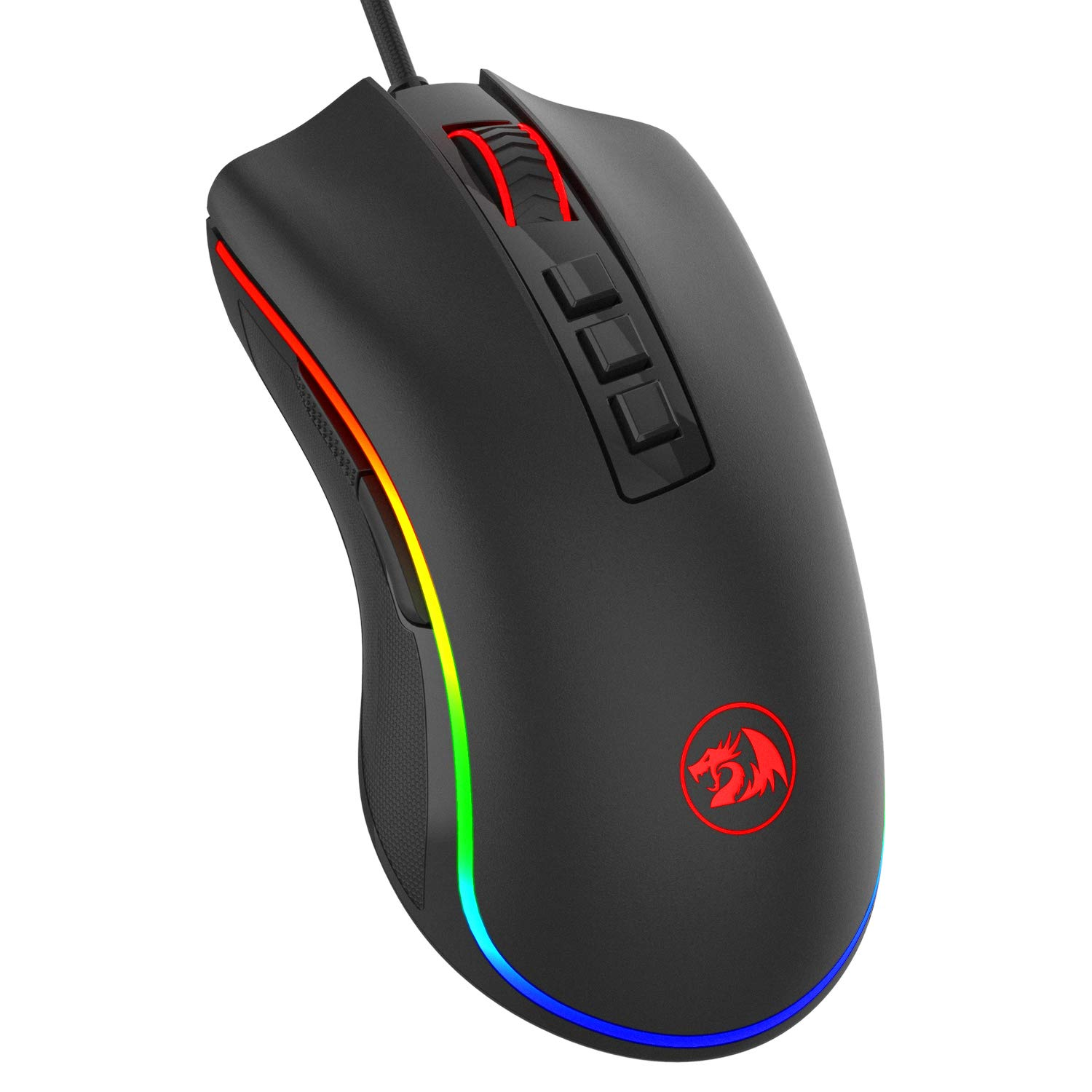 Redragon M711 Cobra Gaming Mouse with 16.8 Million RGB Color Backlit, 10,000 DPI Adjustable, Comfortable Grip, 7 Programmable Buttons by Redragon