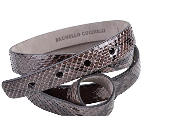 Brunello Cucinelli Gürtel Damen Dunkelbraun Schlangenleder M  Amazon ... cf1fe8caa4