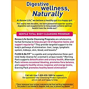 Renew Life - Flush & Be Fit - Woman's Care - supports detoxification and cleanse supplement for women - 14 day program