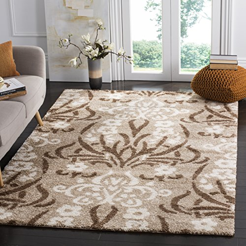 Safavieh Florida Shag Collection SG457-1311 Beige and Cream Area Rug (11' x 15')