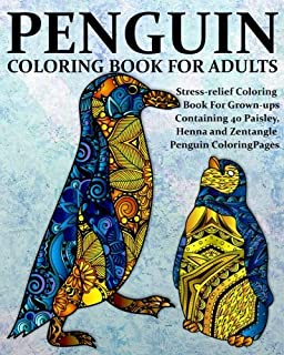 Amazon.com: Penguin Coloring Book For Adults: Penguin Coloring Book ...