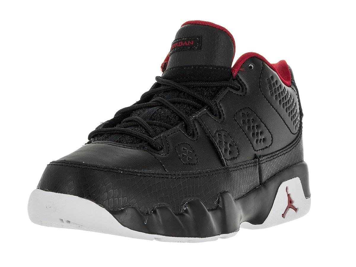 27e625e6ae11 Amazon.com  Nike Jordan Kids Air Jordan 9 Retro Low Bp Black Gym Red White  Basketball Shoe 12.5 Kids US  Shoes