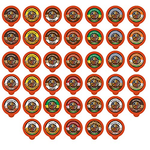Crazy Cups Flavored Decaf Coffee, for the Keurig K Cups Coffee 2.0 Brewers, Variety Pack Sampler, 40 Count