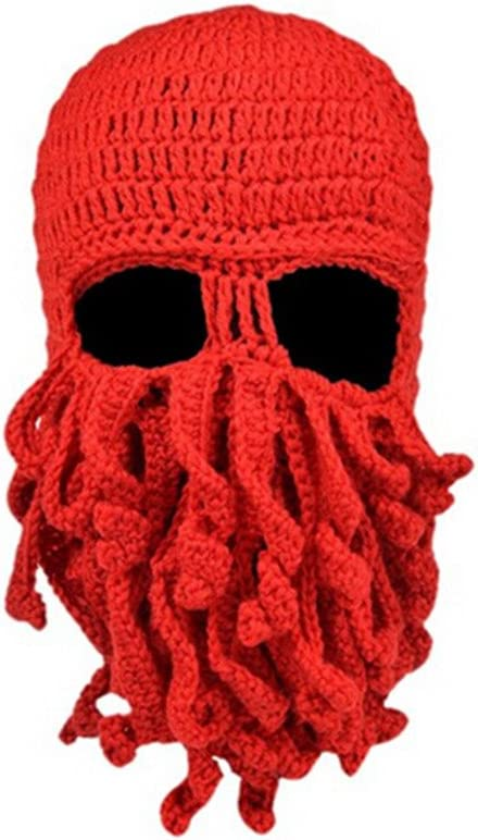 Octopus Cthulhu Knit Wool Beanie Hat Head Skull Cap Wind Ski Face Mask Cosplay