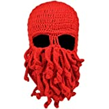 Fashionclub Women Men Winter Warm Octopus Entacle Beanie Wind Mask Knit Hat Cthulhu Fisher Cap