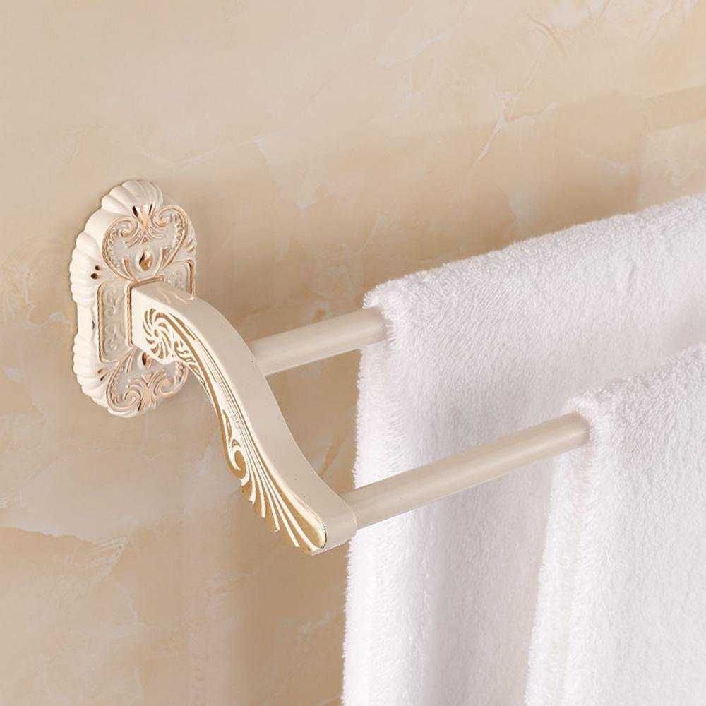 Khskx European Style Double Towel Rack Fashion Firm Towel Rack Bathroom Racks