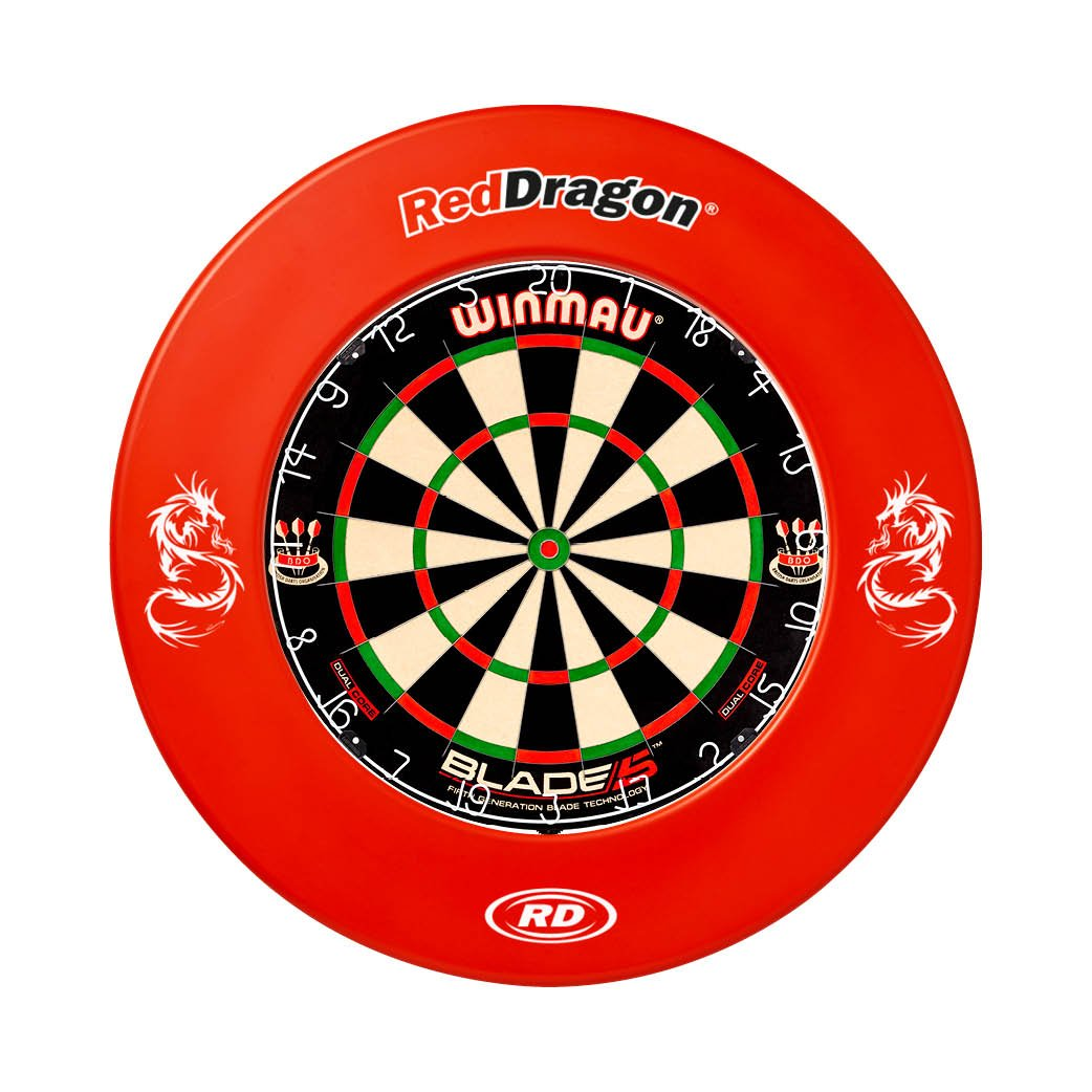 Red Dragon Brand Rot Backboard Dartboard Surround Checkout Card