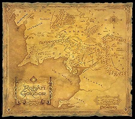 seigneur des anneaux carte Poster affiche Le Seigneur des Anneaux Carte Rohan Gondor (78x68