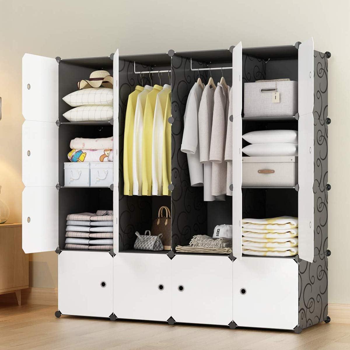 KOUSI Portable Wardrobe Closets 14
