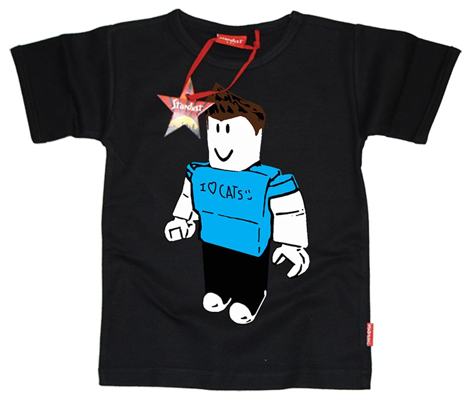 Black t shirt roblox - Stardust Ethical Kids Childrens Denis Roblox Youtube Gamer T Shirt Black