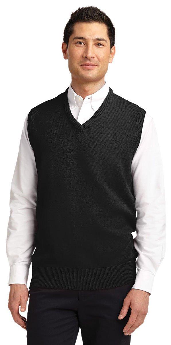 Port Authority Men's Value V-Neck Sweater Vest_Black_XXX-Large