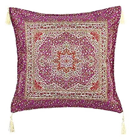 moroccan throw pillows. Alhamra Moroccan Style Boho Throw Pillow Cushion Cover, Middle Eastern Turkish Design Gilted Decorative Square Pillows