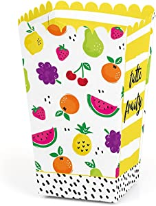 Tutti Fruity - Frutti Summer Baby Shower or Birthday Party Favor Popcorn Treat Boxes - Set of 12