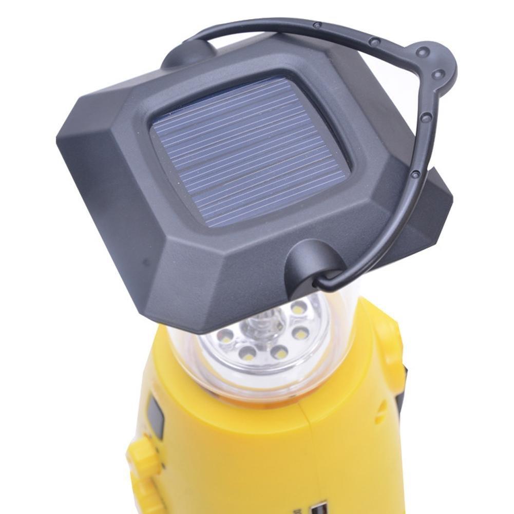 Seatechlogy Solar LED Bulb Emergency Lamps Camping Light, Multifunction Hand Crank Power, Solar Emergency Light, Portable Light, AM/FM Radio, Can Listen Music, News by Seatechlogy (Image #5)
