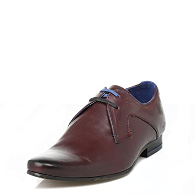 31ee1514583a0 Ted Baker Mens Dark Red Martt Leather Shoes  Amazon.co.uk  Shoes   Bags