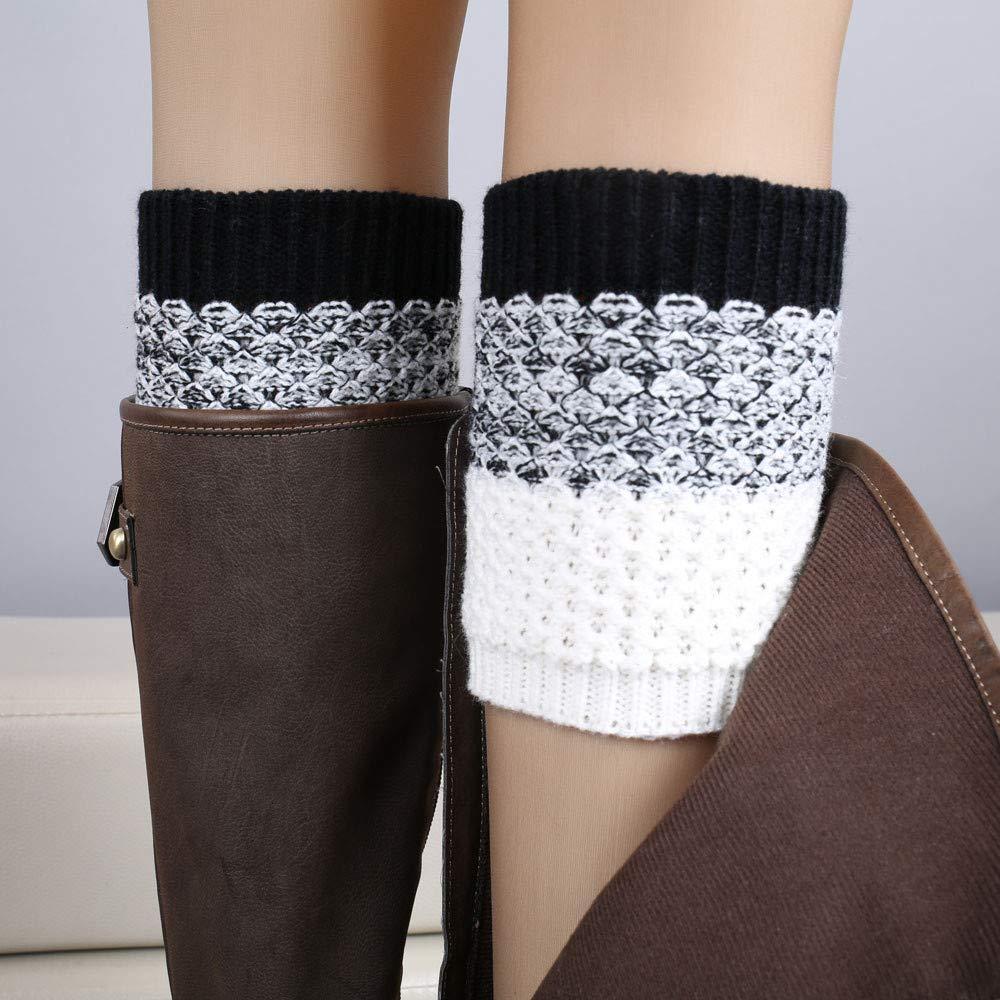 TEBAISE Stulpen Damen Beinlinge Gestrickte Socken Stiefel Socken Kurzstulpen Karneval Fasching Fasnacht Beinstulpen Strick-Stulpe Beinwarmer Stulpen Legwarmer