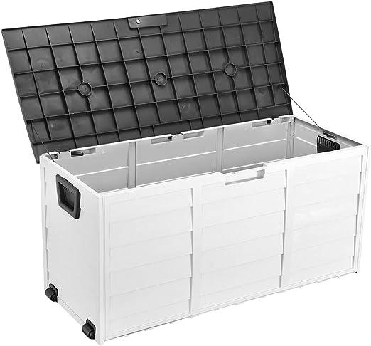 Caja de Almacenamiento de plástico para Exteriores, Ideal para el jardín o el jardín, 112 x 49 x 52 cm: Amazon.es: Jardín