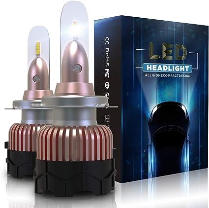 Bombilla H7 LED Coche 10800LM Faros Reemplazar de a Luz Halógena y Xenon HID, CSP Súper Brillante 6000K, 2 Lámparas: Amazon.es: Coche y moto