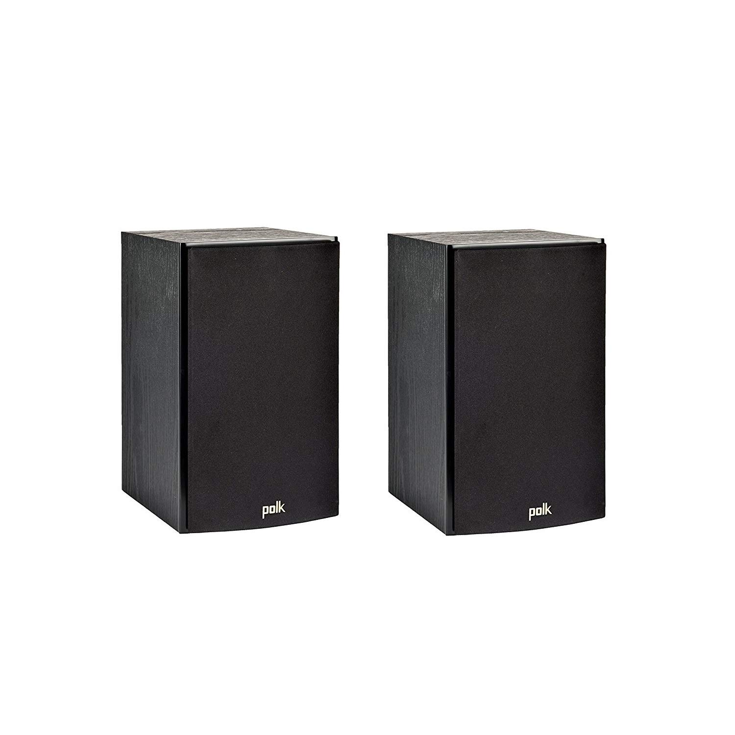 Polk Audio T15 100 Watt Home Theater Bookshelf Speakers (Pair) - Premium Sound at a Great Value | Dolby and DTS Surround | Wall-Mountable by Polk Audio