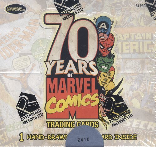 Rittenhouse Marvel 70th Anniversary Trading Cards (Cards Book Comic Trading)