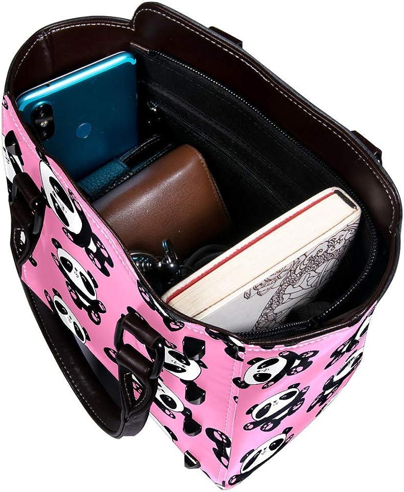 Women handbag Soft PU Leather Fashion Rivet bag Handbag with Shoulder Strap Crossbody Bag Baby Pandas