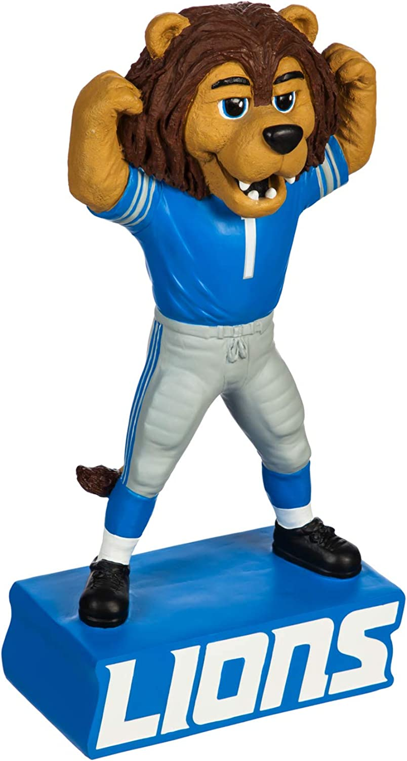 Team Sports America NFL Detroit Lions Fun Colorful Mascot Statue 12 Inches Tall