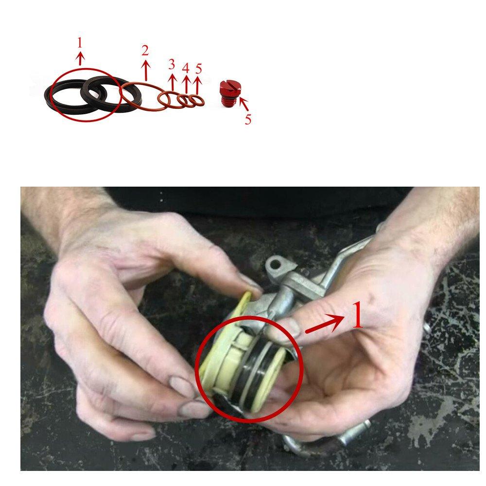 Ifjf Fuel Filter Head Primer Seal Rebuild Kit And Air Bleeder Screw Duramax Housing Repair For 2001 2013 Gm Aluminum Screwred Lyiqplz Filters