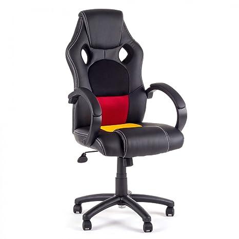 MY SIT Silla de Oficina Silla de Escritorio Gaming Racing Recubrimiento de PU diseño Alemania: Amazon.es: Hogar