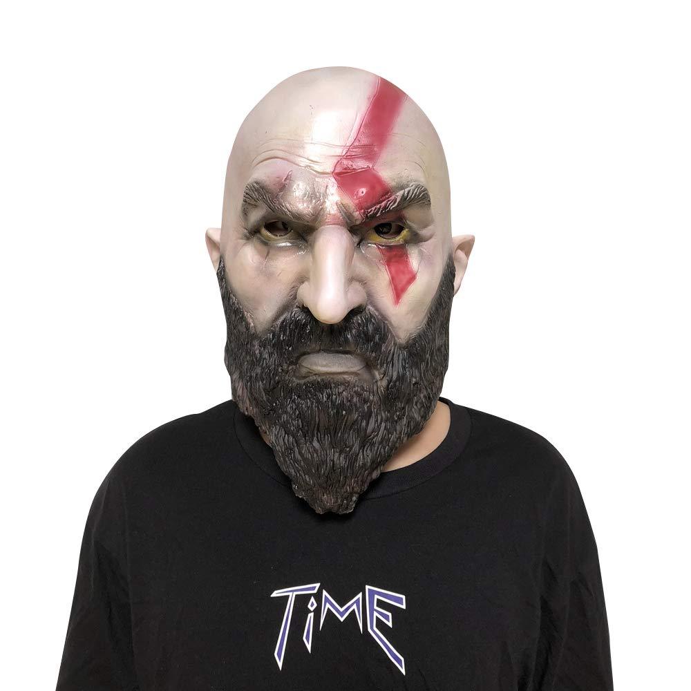 God War Kratos Mask Hot Game Adult Deluxe Latex Helmet Cosplay Costume Halloween Prop