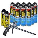 Dow Great Stuff Window and Door 20 oz Foam (12) + AWF Teflon Pro Foam Gun (1) + Dow Great Stuff Pro foam Gun Cleaner (2)