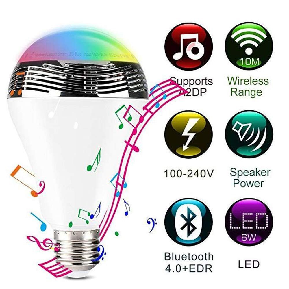 BABY-WZL Creative Multifunction LED Wireless Bluetooth Speaker Light Smart APP Control Colorful Music Bulbs Ambient Bulbs Energy Class A