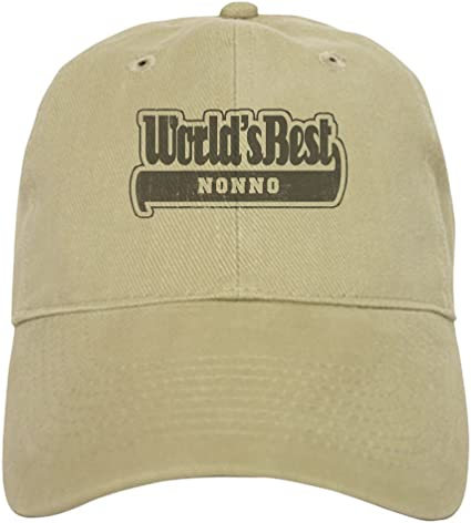 Baseball Cap with Adjustable Closure Unique Printed Baseball Hat Worlds Best Nonno CafePress