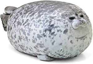 MerryXD Chubby Blob Seal Pillow,Stuffed Cotton Plush Animal Toy Cute Ocean Large(23.6 in)