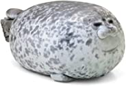 MerryXD Chubby Blob Seal Pillow,Stuffed Cotton Plush Animal Toy Cute Ocean Small 13 in