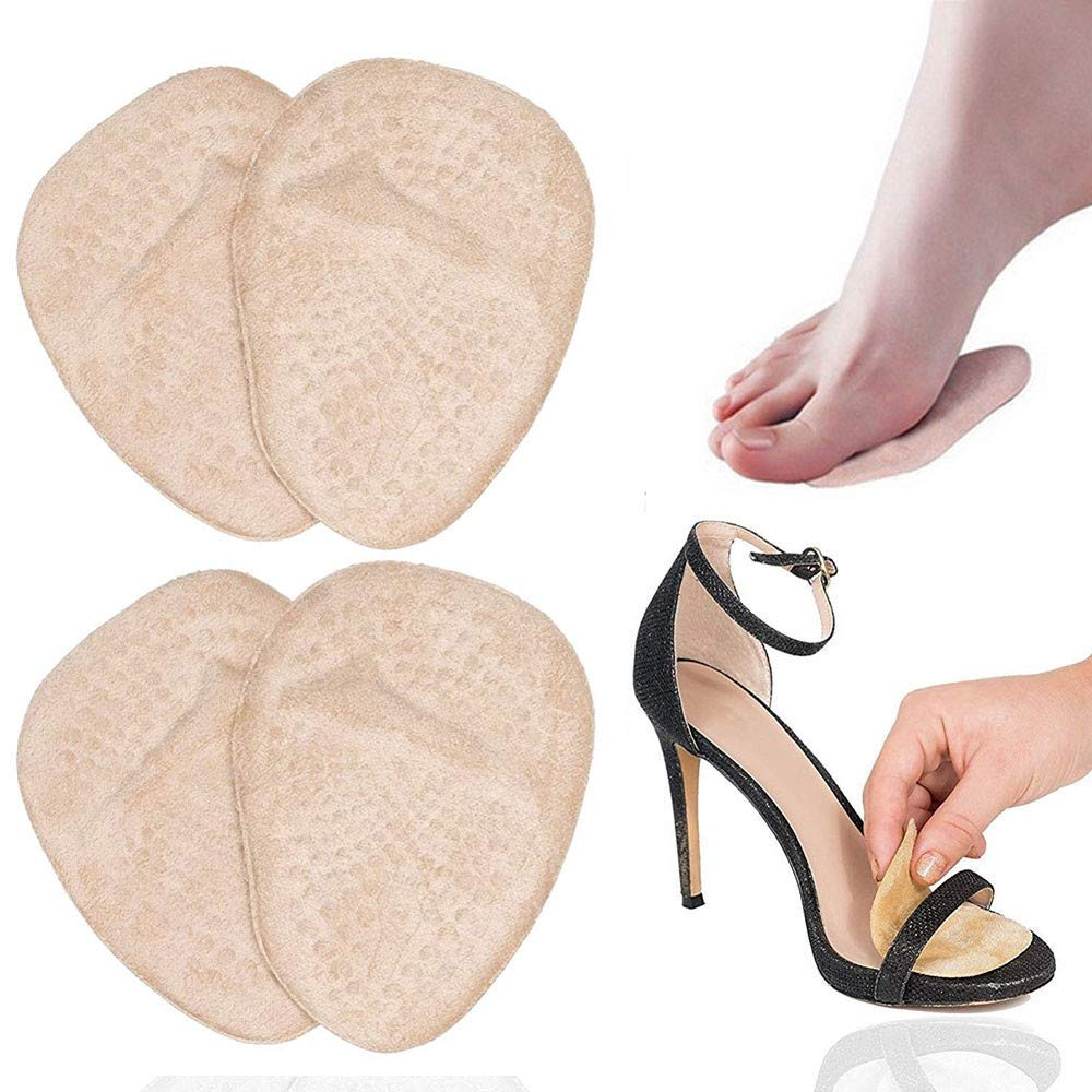 Botrong Metatarsal Pads for Women Ball of Foot Comfort One Size Fits Shoe Inserts 2 Pair