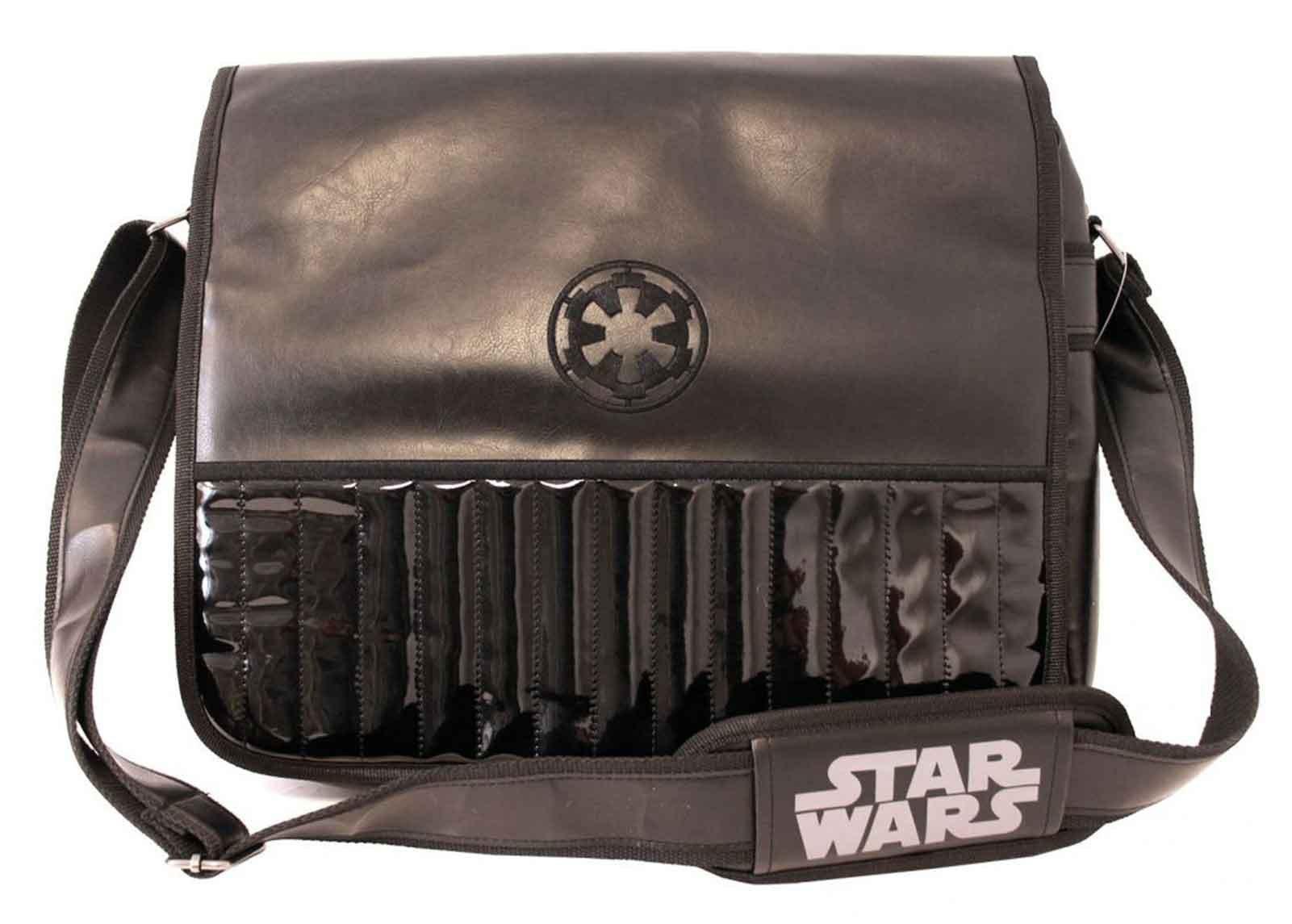 Star Wars Messenger Bag Darth Vader Galactic Empire Emblem Official Black