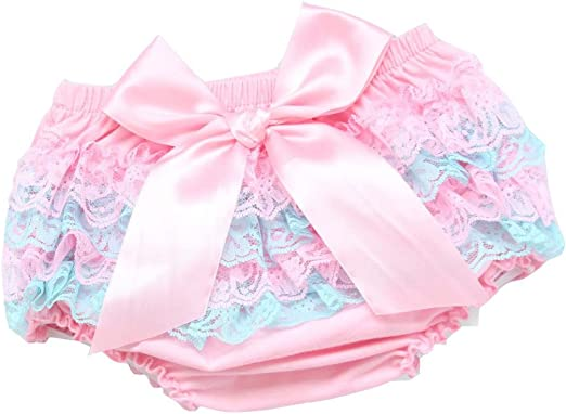 Wennikids Baby Girls Boys 3 Pack Cotton Chffion Ruffled Cute Diaper Covers Shorts Toddler Baby Bloomers