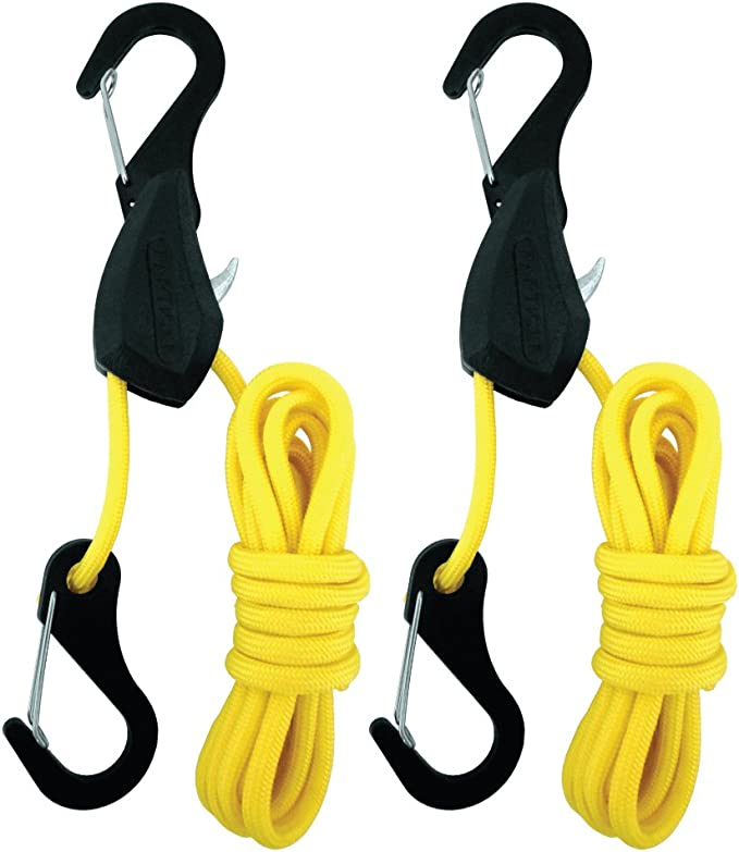 """PACK OF 2 24/"""" ELASTIC LUGGAGE BUNGEE TIE ROPES STRAPS WITH VINYL HOOKS TOURING"""