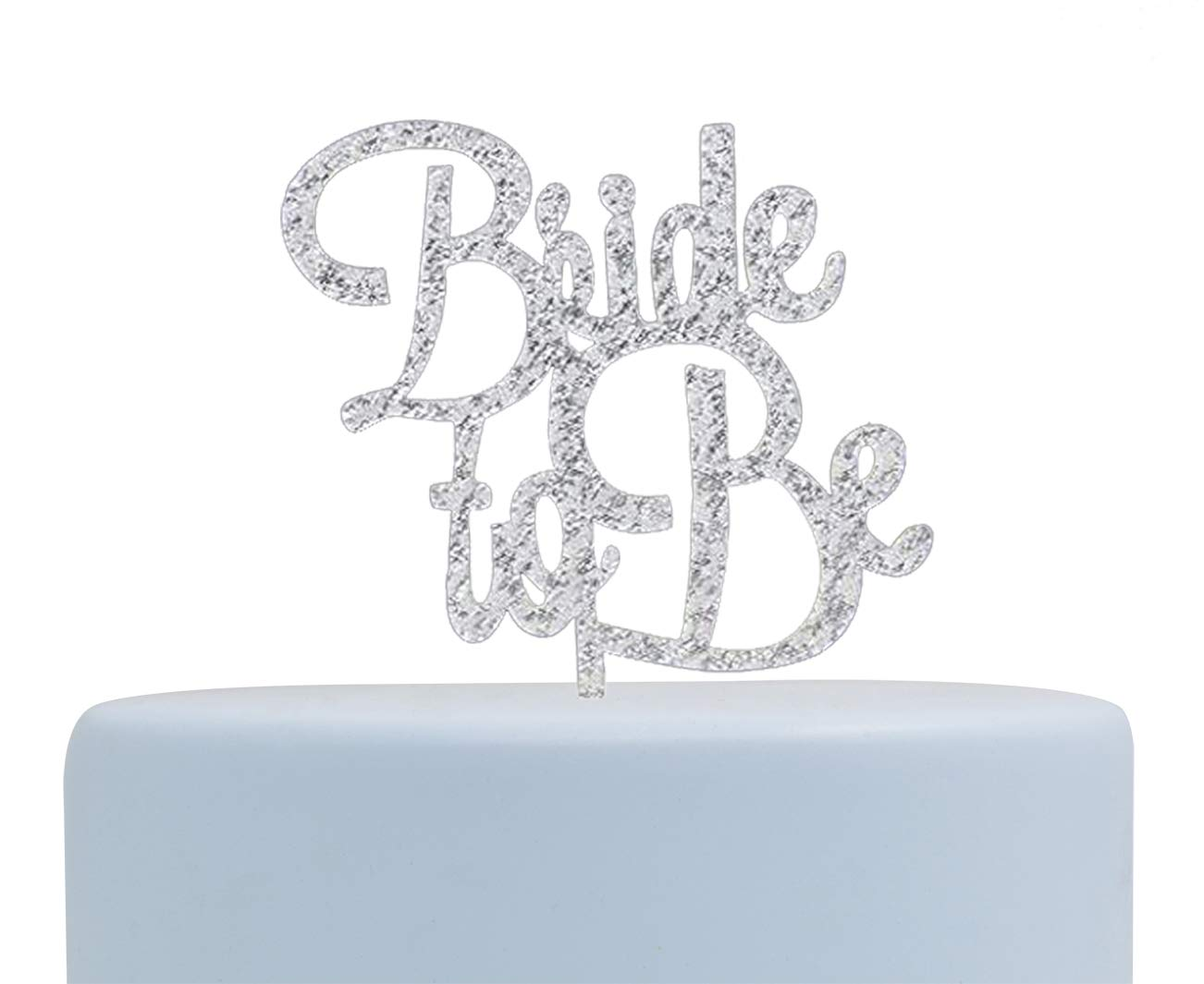 Silver Bride to Be Cake Topper Engagement Party Decoration Supplies Firefairy Bridal Shower
