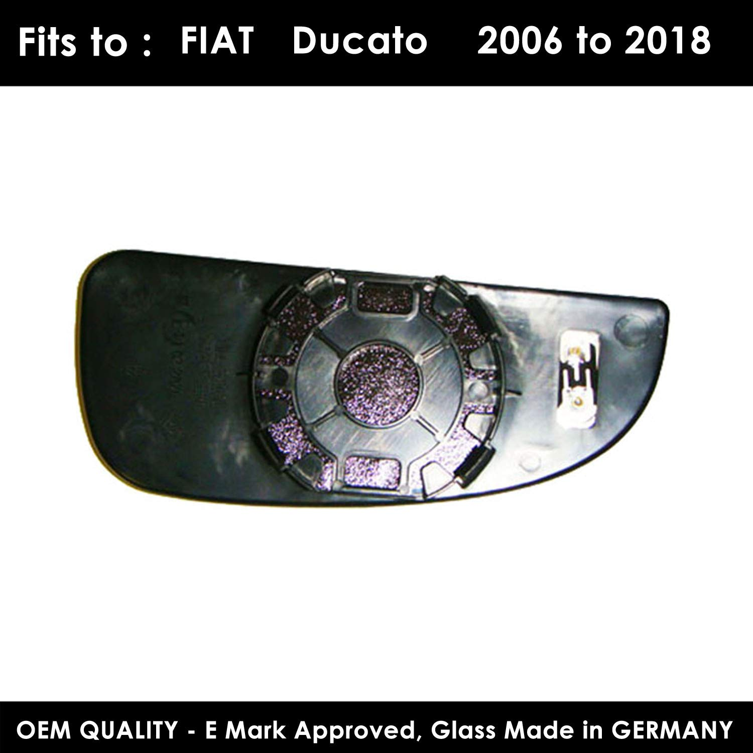 Left Hand Side Door Mirror Glass With base Plate(heated) For FIT-Ducato (Blind Spot Mirror) Year 2006 To 2018